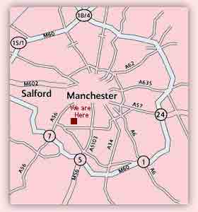 manchester school of massage location map